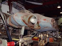 Horten Ho 229 in the Smithsonian waiting for restoration.