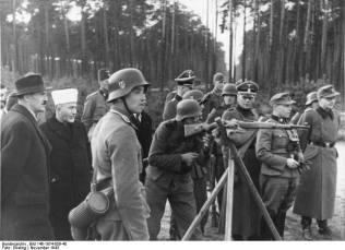 Grand Mufti of Jerusalem, Haj Amin al-Husseini inspects Bosnian Waffen SS recruits, November 1943.