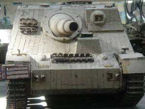 Sturmpanzer or called the Brummbar by the Allies meaning Grouch at the Musée des Blindés – Tank Museum – France.