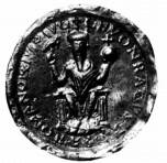 Holy Roman emperor, Conrad II's picture on his seal.