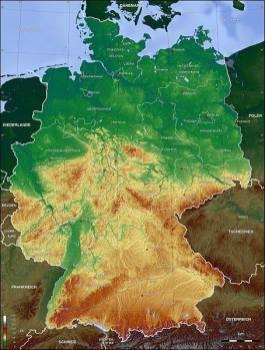 Topographic map.