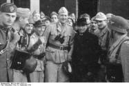 Skorzeny with the liberated Mussolini – Sept. 12 1943.