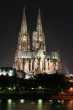 The catholic Cologne Cathedral at the Rhine river is a UNESCO World Heritage Site.