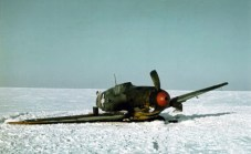 Crashed Messerschmitt Bf 109 F-4 of a Hungarian fighter squadron.