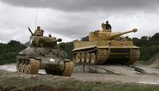 American Sherman compared to the Tiger I.
