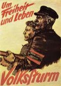 Volksturm propaganda poster 1943.