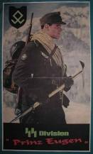 German propaganda poster- The SS Prinz Eugen Division.