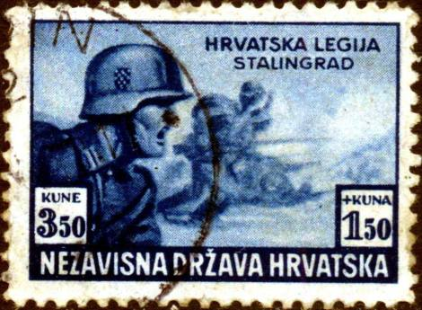 Postmark 1942. The Independent State of Croatia-Croatian legion on the Stalingrad front.