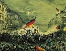 Origin of the Black-Red-Gold: German Revolution of 1848 -Berlin, March 19,1848.
