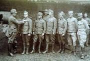 WWI, 1917. Galicia, Austro-rusian front, Croatian Domobrani solders.