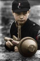 Hitler Youth defending Berlin, 1945.