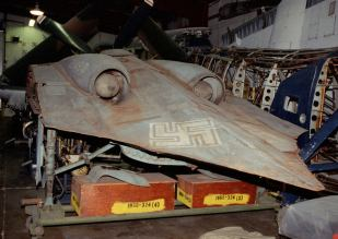 Horten Ho 229 at the Smithsonian with the rear view.