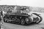 Panzer I Ausf. A in combat during the German invasion of Norway.