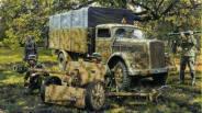 75mm PaK-40 and truck Opel-Blitz.