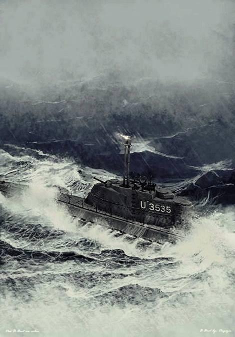 Artist rendition of U-3535