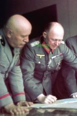 Benito Mussolini and Alfred Jodl discussing strategy.