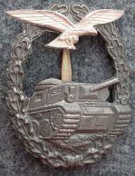 Luftwaffe Panzer Battle Badge (Minus Swastika)