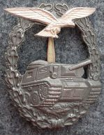 Luftwaffe Panzer Battle Badge (Minus Swastika)