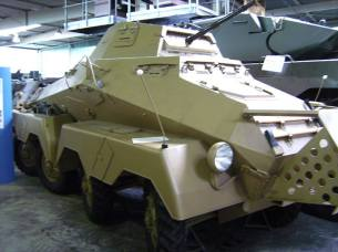 German Sd.Kfz.232 Note independent steering on each of the wheels.
