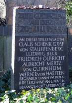 Memorial at the cemetery (Alter St.-Matthäus Kirchhof, Berlin) where the corpses were buried but afterwards removed to an unknown place.