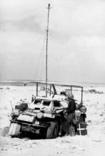 Signals reception unit in the desert.