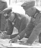 Field Marshall Von Bock and General Hoth on the Eastern Front in Soviet Russia Circa 1942.