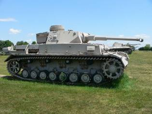 The 1942 Panzer IV Ausf. F2 was an upgrade of the Ausf. F, fitted with the KwK 40 L/43 anti-tank gun to counter Soviet T-34 and KV tanks. It is located at the United States Army Ordnance Museum.