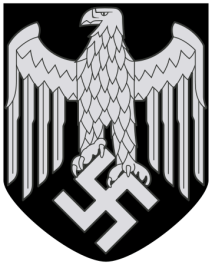 """A Heeresadler (""""Army Eagle"""") decal for the helmets of the Wehrmacht Heer (model 1942)."""