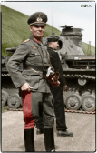Major General Erwin Rommel, and an early Panzer IV of the 7th Panzer Division in France, May 1940.