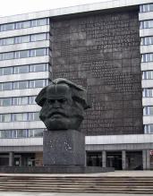 GDR era Karl Marx monument in Chemnitz (renamed Karl-Marx-Stadt from 1953 to 1990).