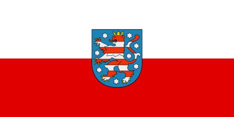 State service flag of Thuringia.
