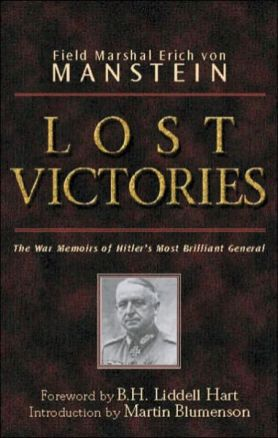Cover of Field Marshal von Manstein's book Lost Victories.