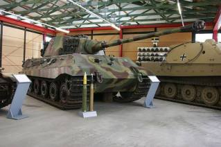 Tiger II with the production turret, at the Deutsches Panzermuseum, Germany.