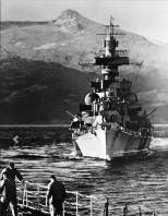 Admiral Hipper taken from the Tirpitz in Norway July 1942 during the Operation Rosselsprung.