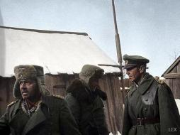 Captured at Stalingrad, from left to right: Generalleutnant Arthur Schmidt, Oberst Wilhelm Adam and Generalfeldmarschall Friedrich Paulus.