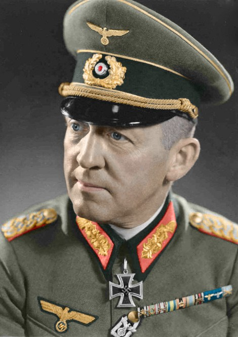 Generalleutnant Curt Badinski, colorized image by Larrister.