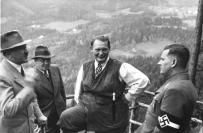 Schirach (right) with Hitler, Bormann and Göring at the Obersalzberg.