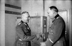 Weisenberger (left) with Lothar Rendulic.