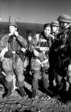 German paratroopers prepare to be flown to Leros.