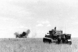 Hit from a Tiger at Kursk.