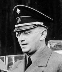 Konrad Henlein, leader of the Sudeten German Party (SdP), a branch of the Nazi Party of Germany in Czechoslovakia.
