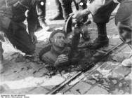 Polish soldier from Mokotów district surrenders to German troops 27 September 1944. For many years it was thought that this soldier was actually saved as Germans were mistaken for insurgents.