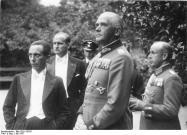 Blomberg with Joseph Goebbels, 1937.