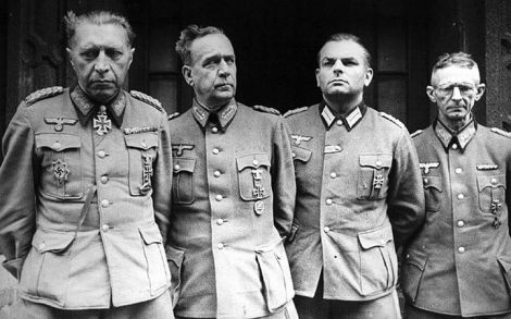Captured German generals, May 1945.