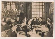 Christmas party of the Luftwaffe with Adolf Galland and Adolf Hitler.