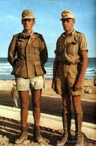Hans Dietrich Riesl (left) and Lucius Günther Schrivenbach in Africa. Their last ranks is Oberst