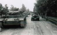 Column of Panzer III's in Russia, 1941.