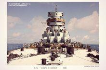 Italian Battleship Conte di Cavour, 1940.