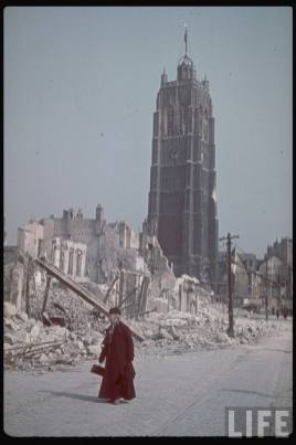Dunkirk after British bombardment and retreat, June 1940.
