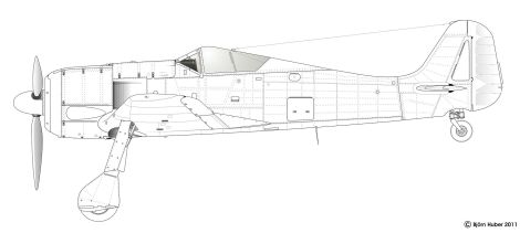 Side-view of Fw 190 A-0.